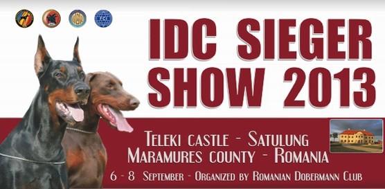 6-8 сентября 2013 IDC SIEGER SHOW 2013 Сатулунг - Румыни/ ShowLeader (Шоулидер) - поездки с собаками