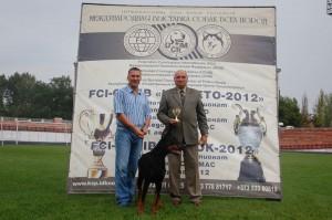2xCACIB-FCI, CAC-Молдовы, 2xCAC-Македонии. Тирасполь (Приднестровье)   11-12 августа 2012